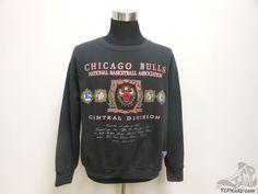 Vtg 90s Nutmeg Mills Chicago Bulls Crewneck Sweatshirt sz L Large Jordan Pippen #Nutmeg #ChicagoBulls #tcpkickz