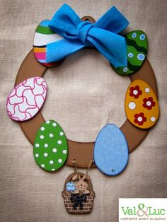 Items similar to Easter Wreath on Etsy Egg Hunt, Easter Wreaths, Easter Eggs, Washer Necklace, Trending Outfits, Unique Jewelry, Handmade Gifts, Decorations, Etsy