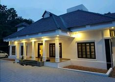 Kerala Houses, Cottage Homes, Home Goods, House Plans, Sweet Home, House Design, Mansions, Architecture, House Styles