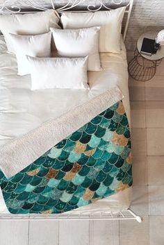 Monika Strigel Really Mermaid Fleece Throw Blanket | DENY Designs Home Accessories