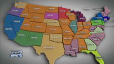 Languages used in states across the US, from CNN Last Look