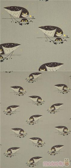 olive green cotton fabric with owls, Material: cotton, Fabric Type: smooth cotton poplin fabric, Pattern Size: size of the owl: ca. Vert Olive, Olive Green, Olives, Green Cotton, Organic Cotton, Poplin Fabric, Cotton Fabric, Westerns, Charley Harper