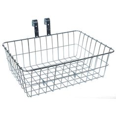 Wald-137-Standard-Medium-Front-Bike-Basket-Silver