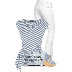 A fashion look from June 2014 featuring Phase Eight blouses, 7 For All Mankind jeans and Tory Burch tote bags. Browse and shop related looks.