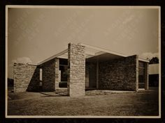 Marcel Breuer-1936 - The Gane Pavillion House, built by Breuer and York for PE Gane Ltd., a Bristol furniture manufacturer with a Modernist line.  The house was built for the Royal Agricultural Show in Ashton Park just outside Bristol.  It was demolished as soon as the show closed.