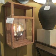 Wood + glass + polished nickel = Hardy Lantern  Arteriors Home