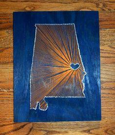 State String Art - Alabama String Art - Auburn - Auburn University