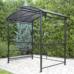 Outdoor Metal Grill Gazebo