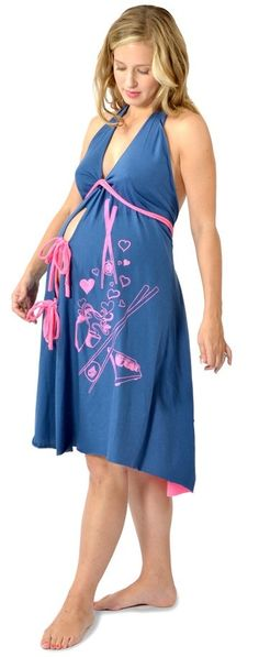 6492dcc748c60 I Dream of Sushi Labor and Delivery Gown - Stella Maternity Baby Number 3,  Navy