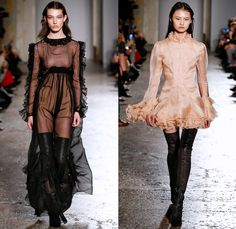 Francesco Scognamiglio 2017-2018 Fall Autumn Winter Womens Runway Catwalk Looks - Milano Moda Donna Milan Fashion Week Italy - Butterfly Wings Print Symmetry Pattern Maxi Dress Goddess Gown Eveningwear Sheer Chiffon Cutout Lasercut Outerwear Jacket Skirt Frock Embellishments Decorated Bedazzled Bejeweled Metallic Studs Pants Trousers Furry Plush Shorts Over Pants Ruffles Long Sleeve Blouse Pencil Skirt Velvet Leg O'Mutton Sleeves Polka Dots Noodle Spaghetti Strap Thigh High Boots