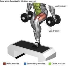 QUADRICEPS - STEP UP MANUBRI