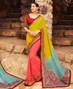 #hey @a1designerwear . Item code: RKL16179 . Buy Nice Multi Silk #Saree #onlineshopping with #worldwideshipping at  https://www.a1designerwear.com/nice-multi-silk-sarees-2   . #a1designerwear #a1designerwear . #instashop #worldwide #thankyou