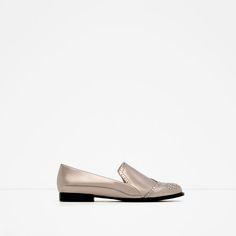 Designer Clothes, Shoes & Bags for Women Loafer Shoes, Shoes Sneakers, Metallic Loafers, Fashion 2017, Womens Fashion, Shoe Boots, Shoe Bag, Zara New, Fab Shoes