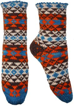 Folk Fusion socks, pattern available to buy from Violet Green.