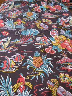 40's hawaiian rayon-personal collection