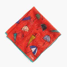 J.Crew+-+Drake's®+cotton-silk+pocket+square+in+umbrella+print