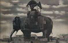 Lucy the Elephant is located in Margate, New Jersey. The 6 story landmark was originally created in 1881 in an effort to sell real estate and attract tourists.  {}