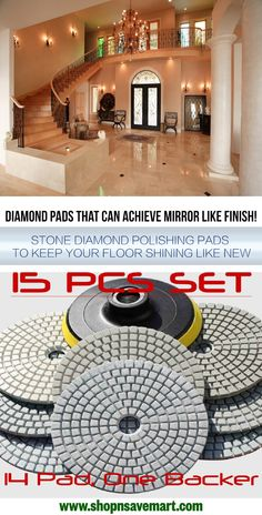 5 Inch Diamond Polishing Pad 16 Piece Granite Concrete Concrete Counter top tile