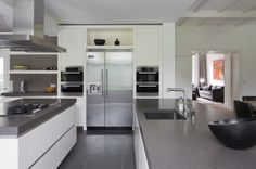 Grijs Keukens op Pinterest - Moderne Keukens, Keuken Extensies en ...
