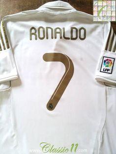 Relive Cristiano Ronaldo's 2011/2012 La Liga season with this original Adidas home football shirt.