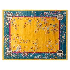 "Check out this item at One Kings Lane! 8""x10'3"" Sari Wool Heaven Rug, Saffron"
