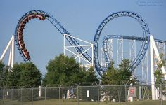 Shock Wave roller coaster at Six Flags Great America