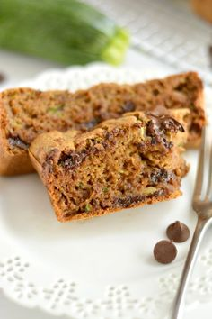 Chocolate Zucchini Bread made with no added sugar or oil