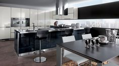 Contemporary Kitchen for large size room.