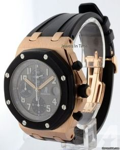 Audemars Piguet Royal Oak Offshore 18k Rose Gold Mens Watch 25940OK Box/Papers