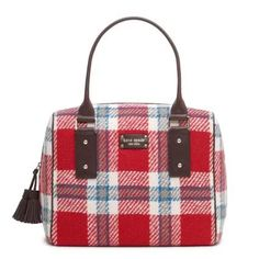 Tartan satchel by Kate Spade Tartan Plaid, Plaid Flannel, Plaid Purse, Tote Handbags, Purses And Handbags, Tote Bags, Celtic, Kate Spade Purse, Plaid Christmas