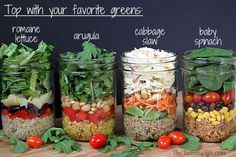 Quinoa Salad-In-A-Jar in 4 International. at Beautiful Pictures Of Healthy Food Mason Jar Lunch, Mason Jar Meals, Meals In A Jar, Meals For The Week, Mason Jars, Salad In A Jar, Soup And Salad, Real Food Recipes, Cooking Recipes