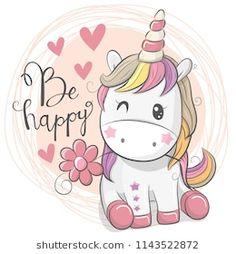 Cute Cartoon Unicorn with flower. Greeting Card with Cute Cartoon Unicorn with flower royalty free illustration Unicorn Painting, Unicorn Drawing, Cartoon Unicorn, Unicorn Art, Cute Unicorn, Unicorn Images, Unicorn Pictures, Girl Pictures, Unicornios Wallpaper