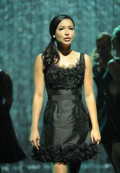 Naya Rivera as Santana Lopez. Best eye lashes in a TV performance.