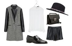 Look de invierno en 'black&white' de @· ZARA · y @MANGO: masculino y sexy
