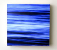 Ocean Blues, 8X8 Wood Panel, Abstract Photography : Mixed Media : Doug Hockman