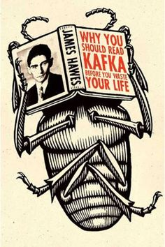 Why You Should Read Kafka Before You Waste Your Life Design and lettering by Steve Snider Illustration by Douglas Smith Best Book Covers, Beautiful Book Covers, Book Cover Art, Book Cover Design, Book Art, Cool Books, My Books, Reading Books, Inspiration Artistique