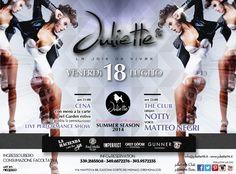 Venerdi 18 cena e club nella location più chic di Cremona @juliette96club