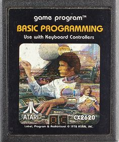 Basic Programming Atari cassette cover  Back when I was a young whippersnapper- this was how we rolled!