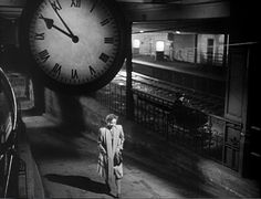 Brief Encounter, David Lean. Top 10 Timepieces-In-Cinema,. Old Movies, Vintage Movies, The Thirty Nine Steps, David Lean, Brief Encounter, Old Train Station, Shadow Silhouette, Beautiful Film, Artists And Models