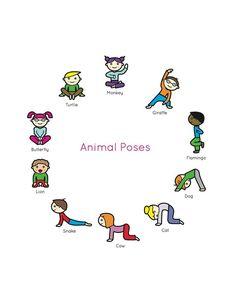 Kids Yoga Book : My First Yoga Animal Poses.