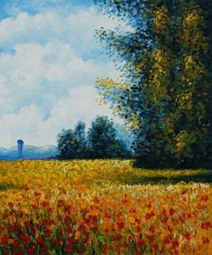 Champ D'avoine (Oat Field) By Claude Monet. In 1872, He Painted Impression, Sunrise ) | Modern Art Movements To Inspire Your Design