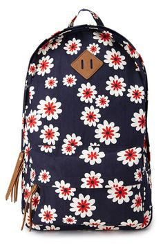 Navy Blue Anchor Rucksack Girl College Canvas Backpack | College ...