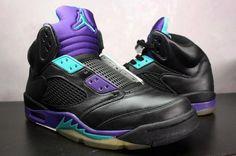 Air Jordan 5 'Grape to Aqua' Custom