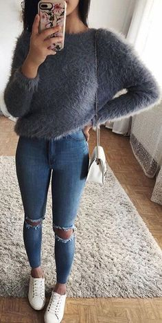 Cute Fall Casual Back to School Outfits Ideas for Teens for College 2018 Casual Fashion -ideas para el regreso a la escuela - www. outfits for winter for school Cute Casual Back to School Outfit Ideas for 2018 Teenage Outfits, Teen Fashion Outfits, Mode Outfits, Look Fashion, Fashion Ideas, Fashion Styles, Fall Fashion, Basic Outfits, Simple Outfits