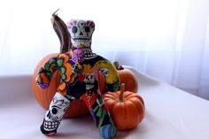 Day of the Dead Poppet Sugar Skull by nightsvision on Etsy