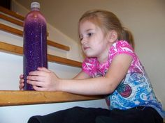 Time out bottles.....the kids waits until the glitter settles at the bottom of the bottle
