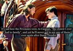 So far but after Voyage of The Dawn Treader he gets married and they had a son. The sad part for me was how she died and he didn't see his son again until the day of his death