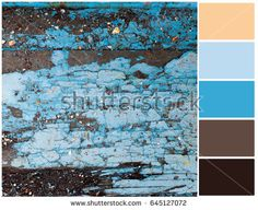 Pallete of colors. Colorful floor. Harmonious combination of colors. Color mixing.