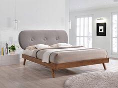 Pat din LemnTapitat cu Stofa Emily Grey #bedroom #homedecor #ideiredecorare Emily Gray, Grey Bedding, Bedroom Bed, Bedrooms, Minimalism, Interior, Inspiration, Furniture, Design
