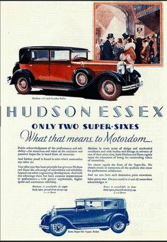1928 Hudson and Essex super six sedans